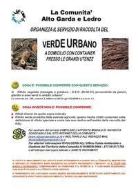 Attivazione raccolta del verde presso le grandi utenze non for Tari utenze non domestiche